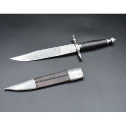 Antiguo Cuchillo de Caza de la Fabrica de Toledo grabado al