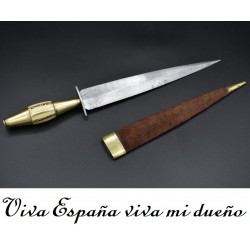 Puñal de albacete con leyenda VIVA ESPAÑA VIVA MI DUEÑO S. XIX
