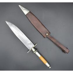 Bayoneta de taco JOSE PEREZ ALBACETE cuchillo caza siglo XIX