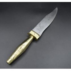 Cuchillo de montería español antiguo fechado 1906 JR JEREZ