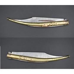 Navaja española grande antigua de estilo Mudela bandolera