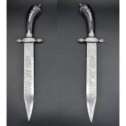 1883 Cuchillo de Caza Artilleria Fabrica de Toledo ebano y