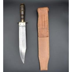 Antiguo Cuchillo de montería español de 1904 tipo Bowie