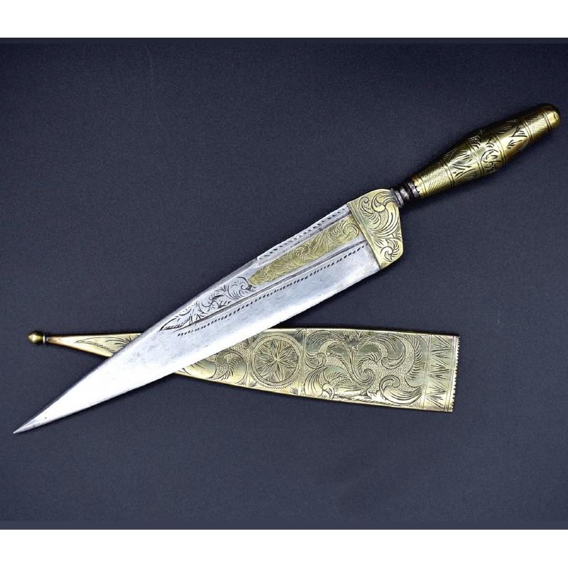 Cuchillo antiguo siglo XVIII andaluz málaga simbología solar