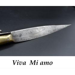 Navaja Catalana con leyenda Viva mi amo siglo XIX