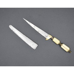 Cuchillo de Escritorio de Albacete Antiguo Cortaplumas Secreto