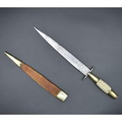 Cuchillo antiguo español decorado estilo albaceteño