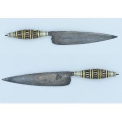 Naife Cuchillo Canario antiguo siglo XIX acero negro