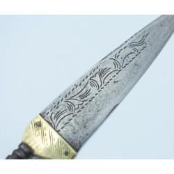 Cuchillo antiguo español de siglo XVIII