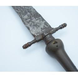 Antiguo Cuchillo de monte siglo XVIII bayoneta de taco