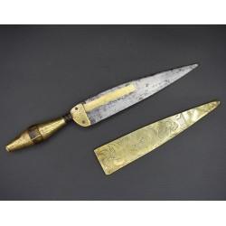 Cuchillo malagueño del siglo XVIII marcado FM
