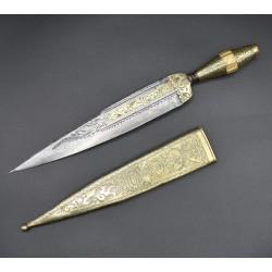 Antiguo Cuchillo Andaluz del siglo XVIII decoración lujosa