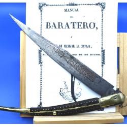 Navaja antigua española albacete siglo XIX clásica bandolero