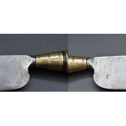 Cuchillo Canario decorado punteado antiguo siglo XIX