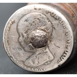 Cuchillo de montería fechado 1891 moneda plata tipo Bowie