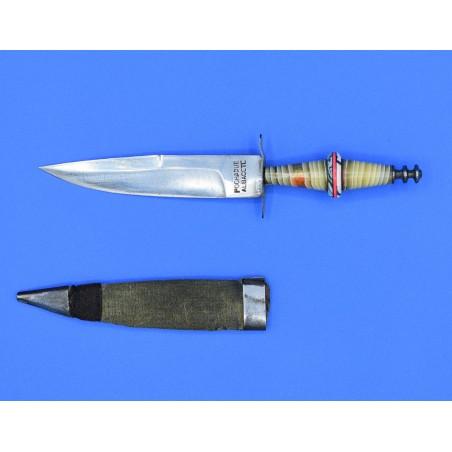 Cuchillo miniatura Pochaque Albacete mango celuloide