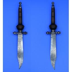 Bayoneta de taco Fabrica de Toledo 1880 cuchillo Bowie s. XIX