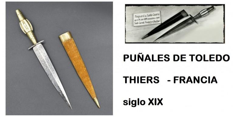 Puñales antiguos marcados como RECUERDO DE TOLEDO en el siglo XIX