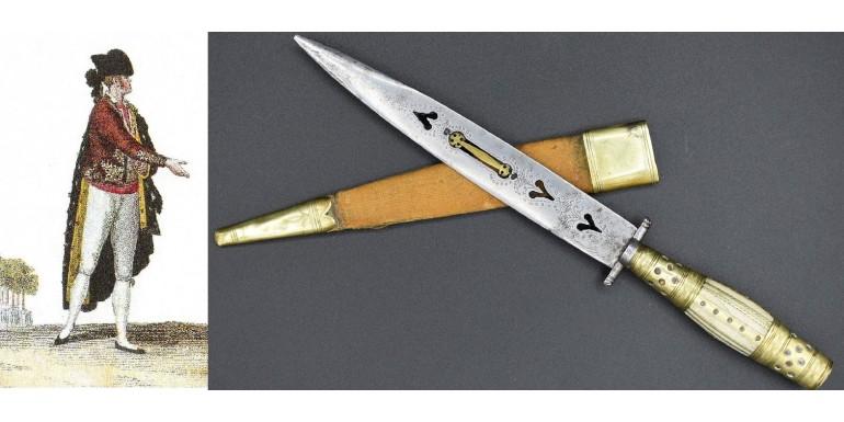 El Majismo, la navaja y el cuchillo en el traje popular español de los siglos XVIII y XIX