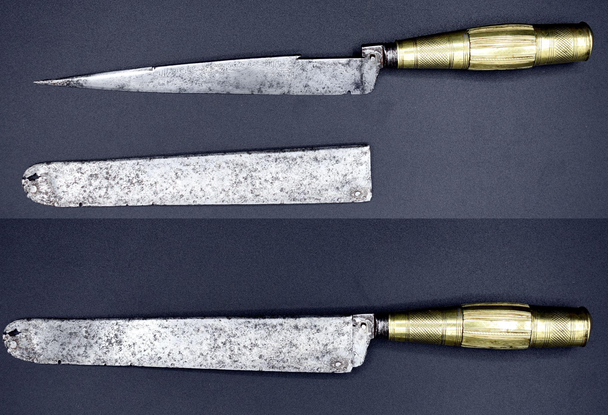cuchillo filo de secreto vaina acero