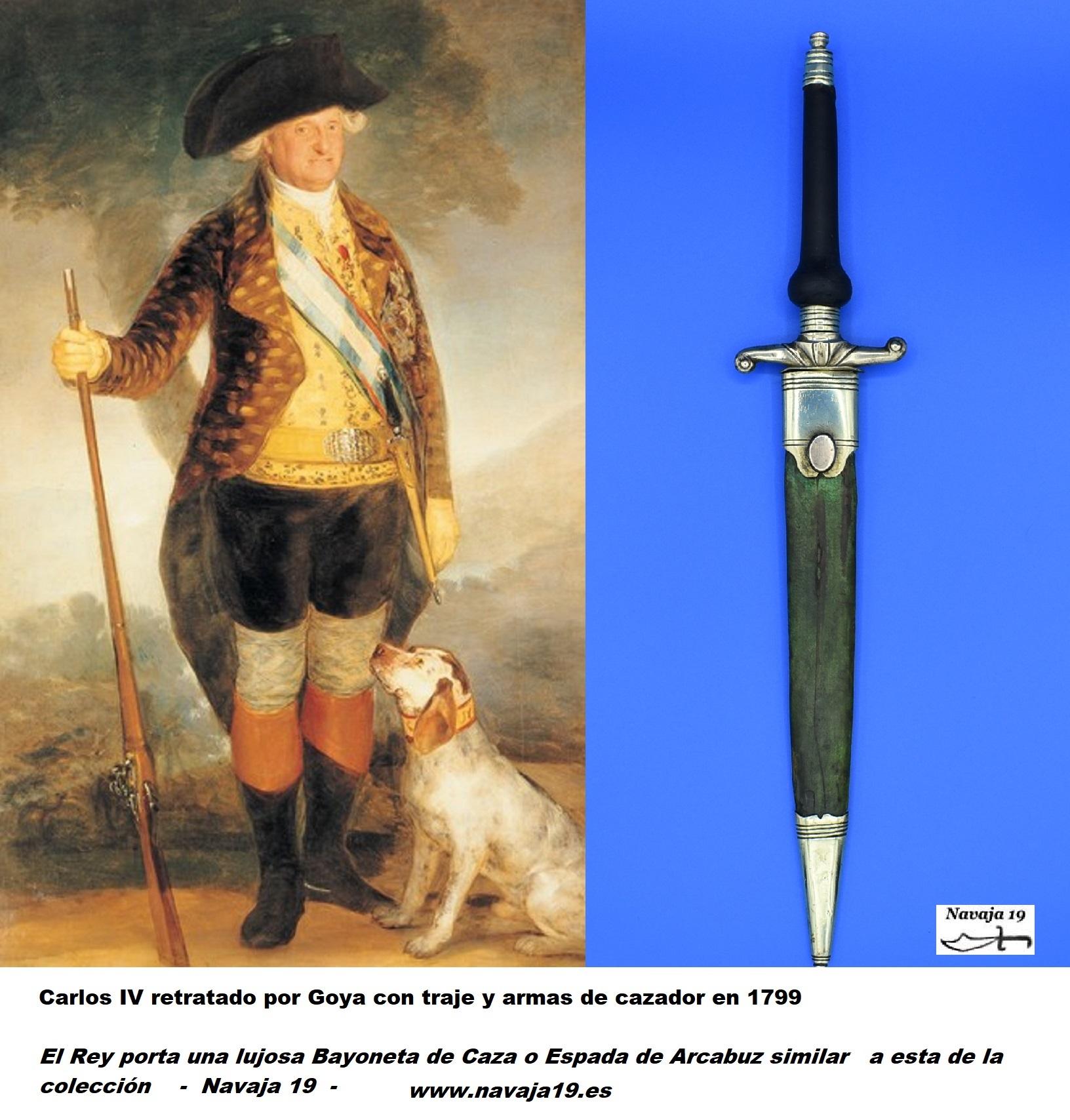 Espada de Arcabuz carlos IV 1799