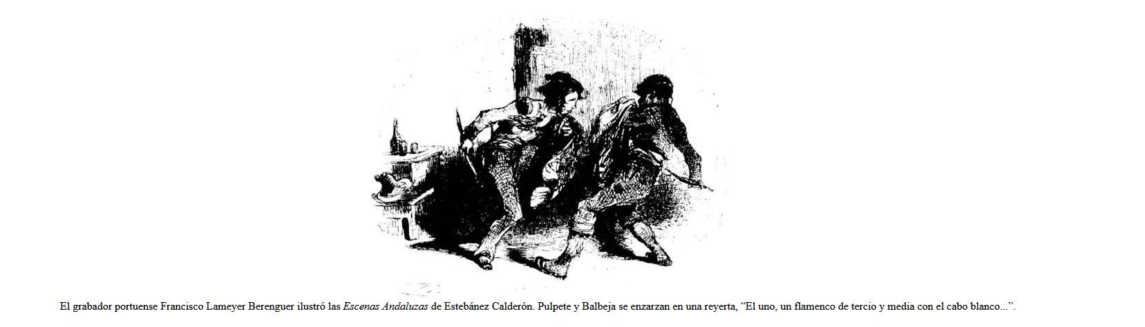 Cuchillo flamenco gitano siglo XIX