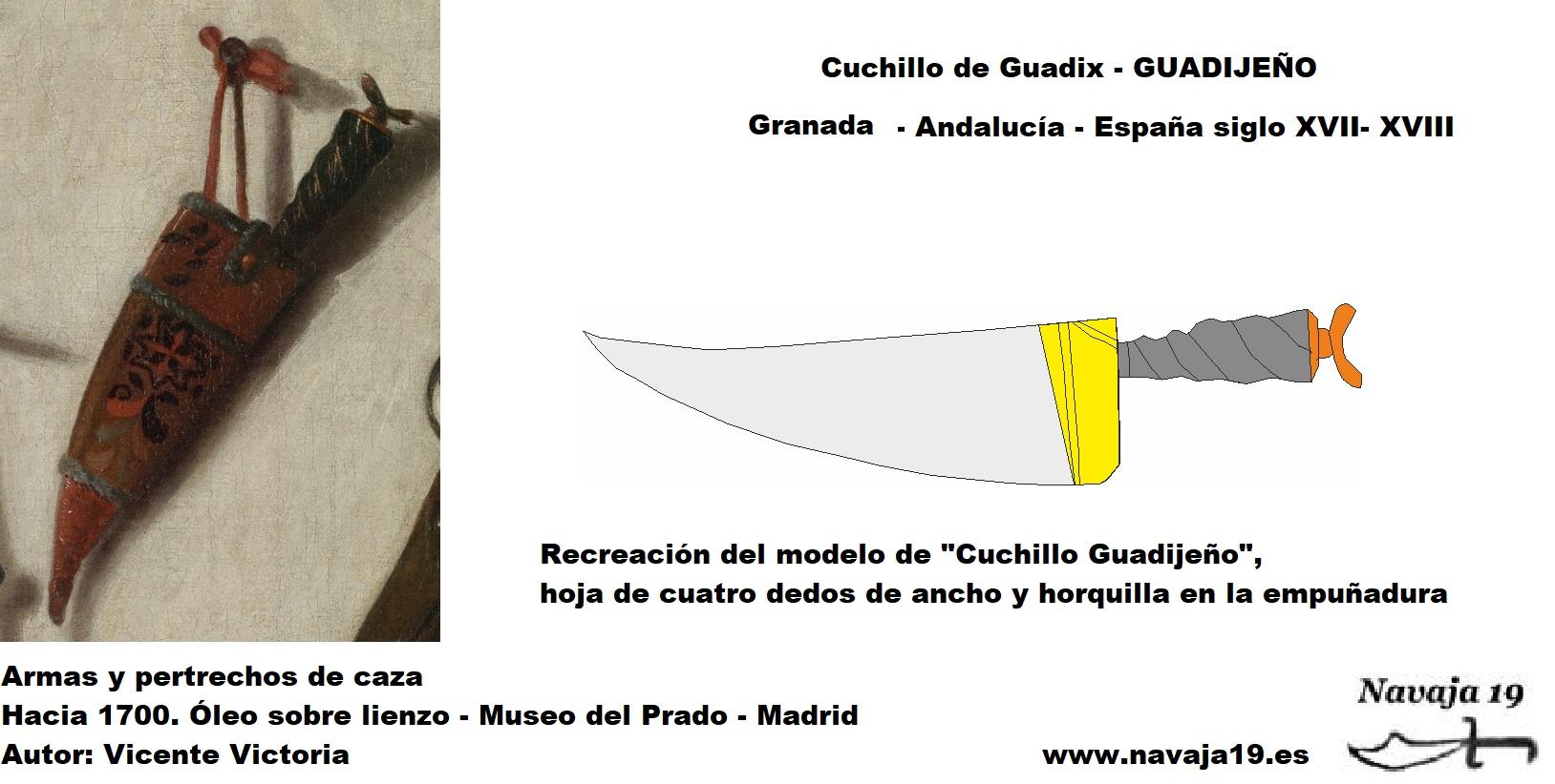 cuchillo guadijeño flamenco siglo XVIII XIX