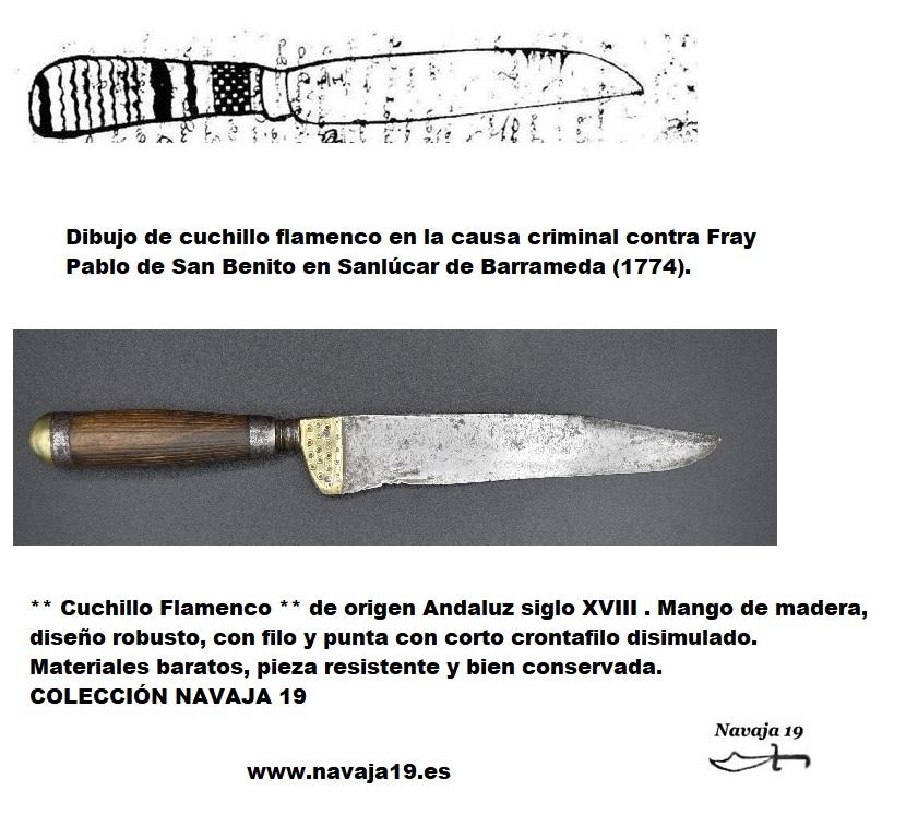 cuchillo flamenco siglo xviii