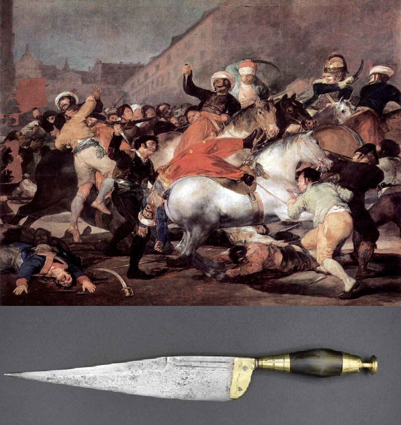 goya mayo 1808 cuchillo español majo
