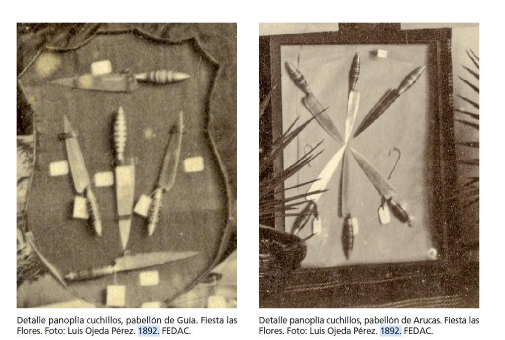 cuchillos canarios 1892 feria de las flores