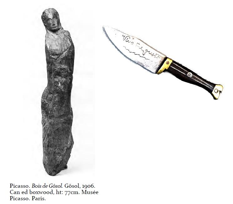 Cuchillo de picasso escultura
