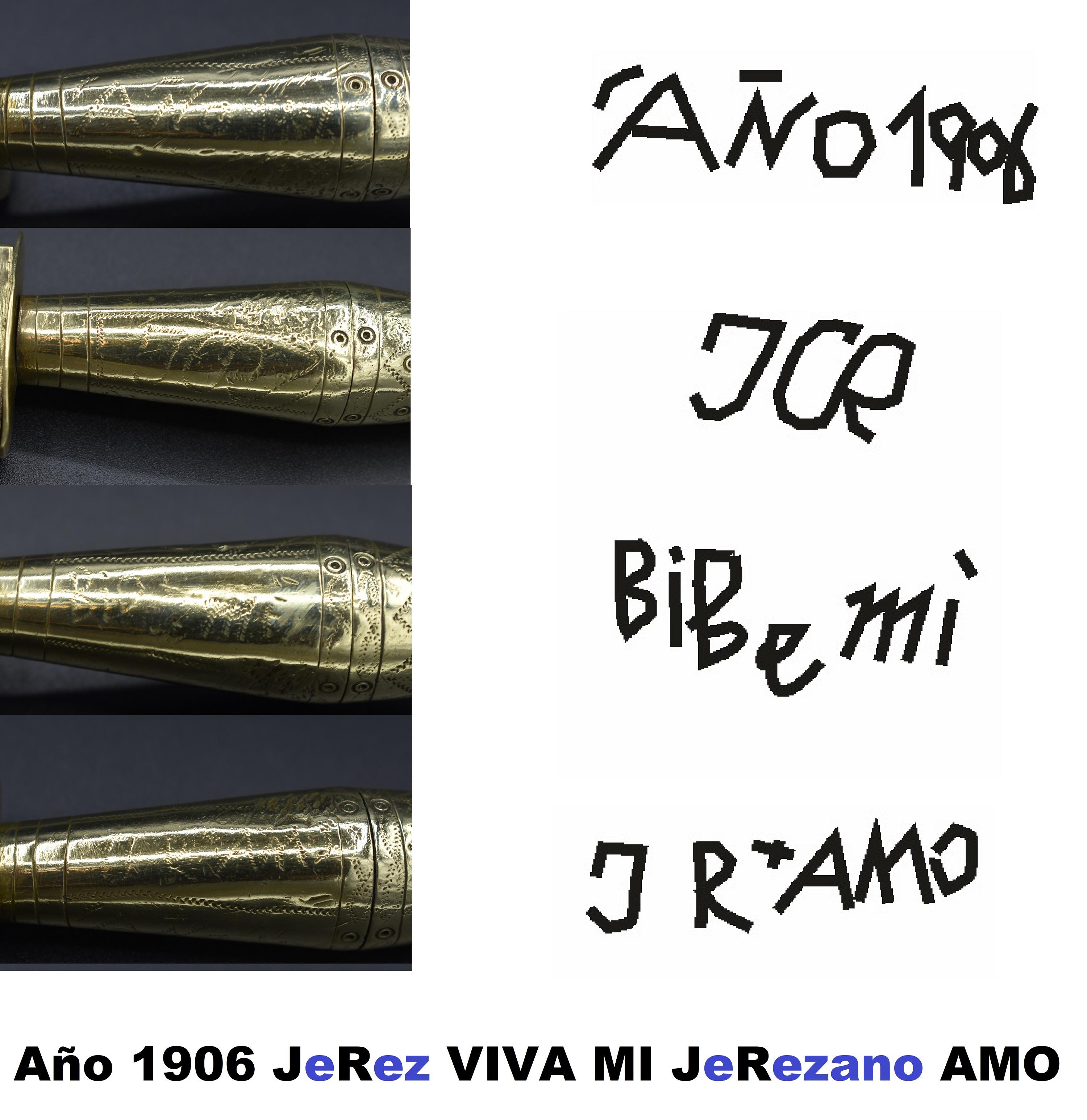 LEYENDA VIVA MI AMO cuchillo AÑO 1906