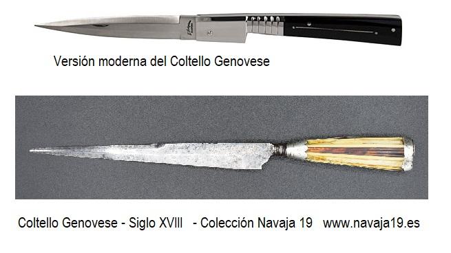 tagan colltello genovese siglo XVIII