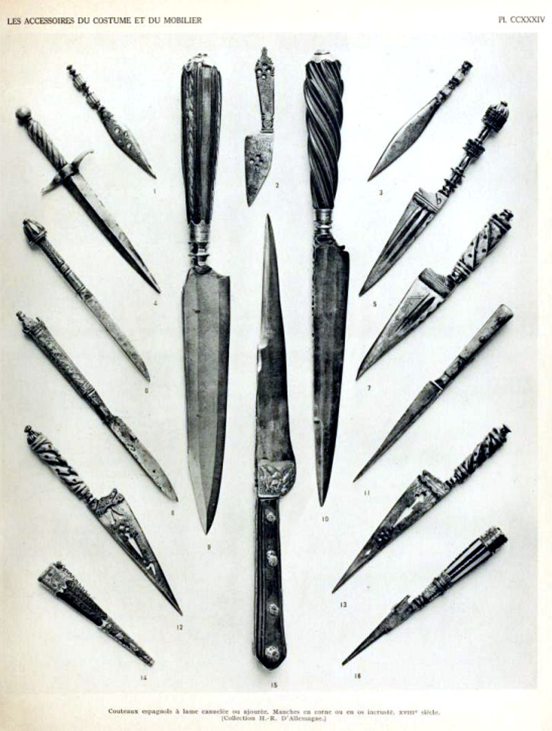 Cuchillo miniatura siglos XVIII y XIX españa