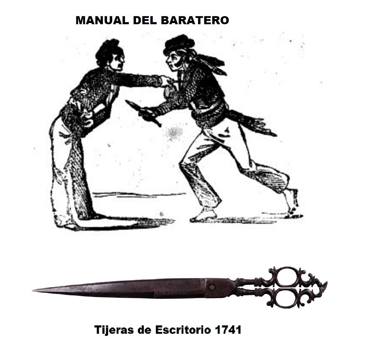 uso de tijeras y navajas como arma manual dle baratero siglo XIX