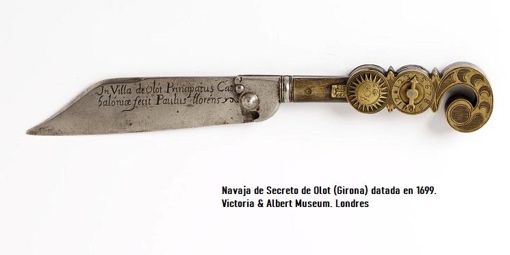 Navaja de secreto española Olot siglo xvii